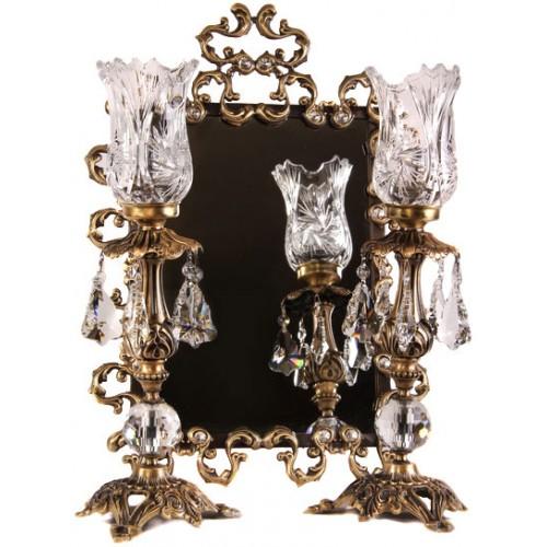 آینه شمعدان برنز