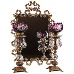 آینه و شمعدان دو پوست