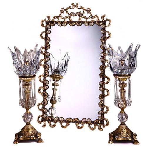 آینه و شمعدان لوتوس
