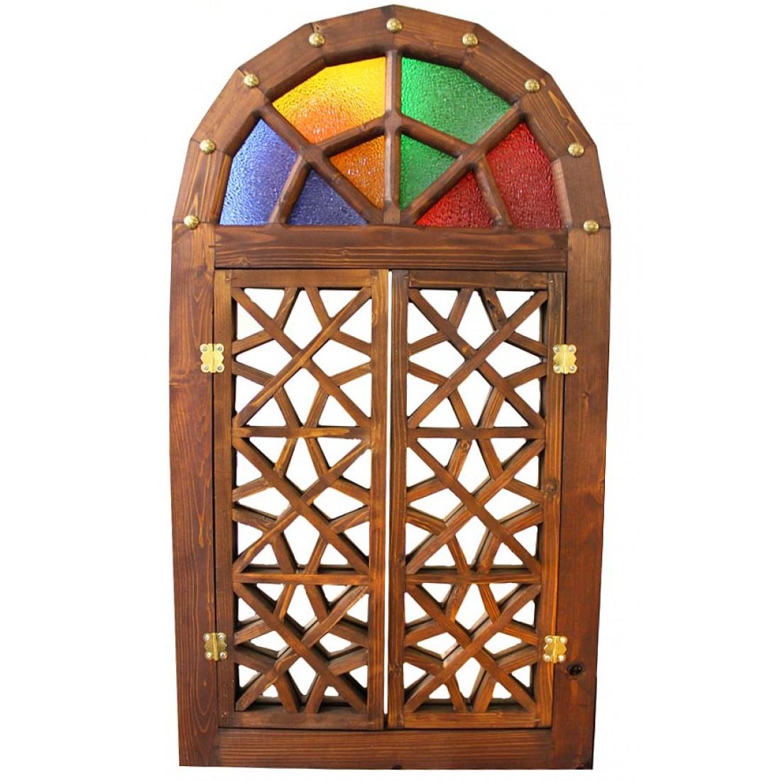 آینه پنجره چوبی سنتی 968