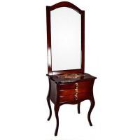آینه و کنسول چوبی 3 کشویی