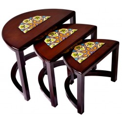 میز عسلی چوبی 3 عددی 3905