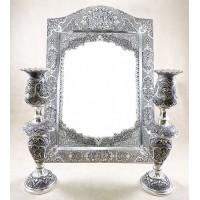 آینه شمعدان نقره آزیتا