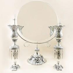 آینه و شمعدان نقره پارمیدا