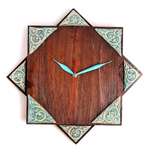 ساعت دیواری چوبی هشت پر 3803