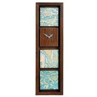 ساعت دیواری چوبی باریک 3806