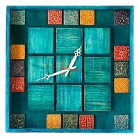 ساعت دیواری چوبی رنگی 3807