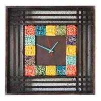 ساعت دیواری چوبی خشتی 3808