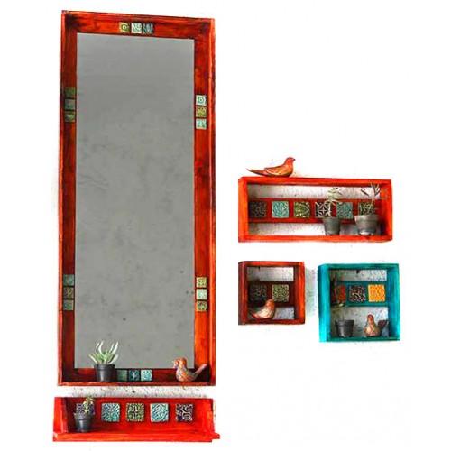 آینه دیواری چوبی بزرگ 3816