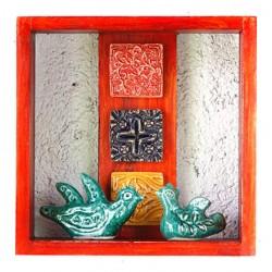 جعبه فانتزی چوبی نارنجی 3829