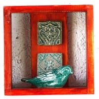 جعبه فانتزی چوبی نارنجی 3830