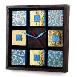 ساعت چوبی دیواری مربع
