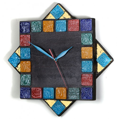 ساعت دیواری 16 ضلعی
