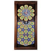ساعت دیواری چوبی سنتی بلند 3912