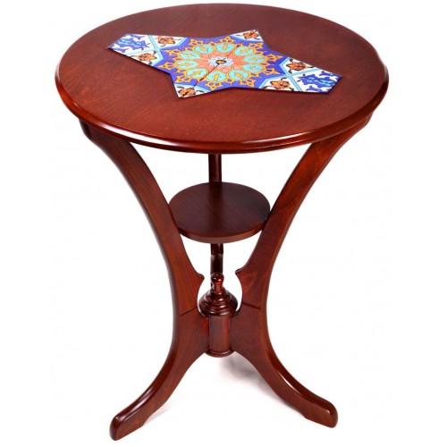 میز کنار سالنی چوبی 3 پایه