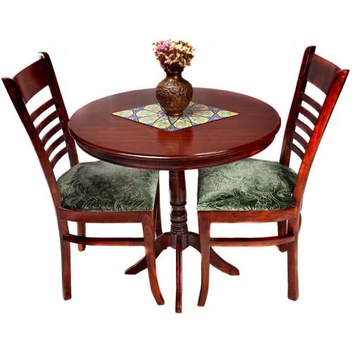 میز و صندلی چوبی کافی شاپ 2 نفره
