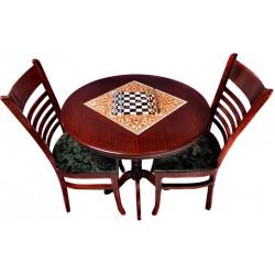 میز شطرنج چوبی دایره ای 2 نفره