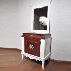 آینه کنسول سفید صدفی