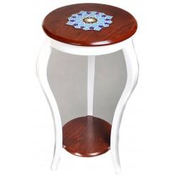 میز آباژور چوبی سفید