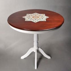 میز دایره ای سفید
