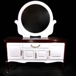آینه کنسول بوفه ای چوبی