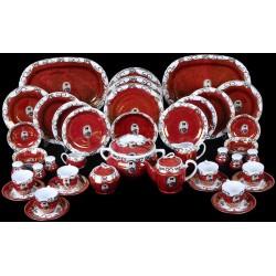 سرویس چینی قرمز 55 پارچه