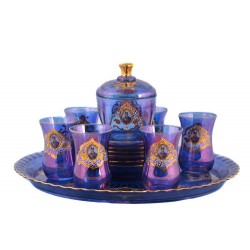 سرویس چای خوری شاه عباسی سورمه ای