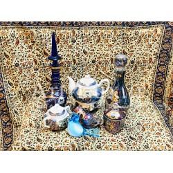 سرویس ظروف شاه عباسي سورمه ای