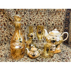 سرویس ظروف شاه عباسي طلایی