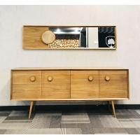 کنسول آینه ای مدرن چوبی