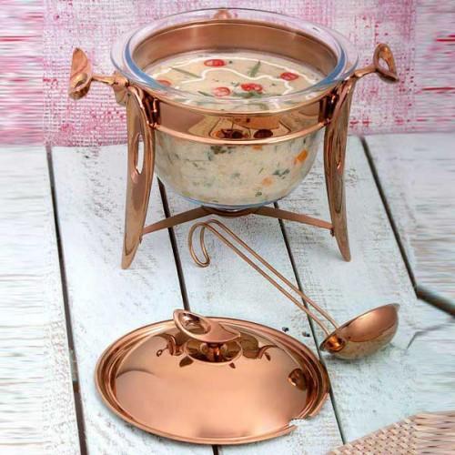 سوپ خوری استیل رزگلد