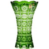گلدان کریستال بوهمیا سبز