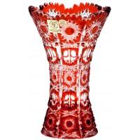 گلدان کریستال بوهمیا قرمز