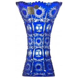 گلدان کریستال بوهمیا آبی
