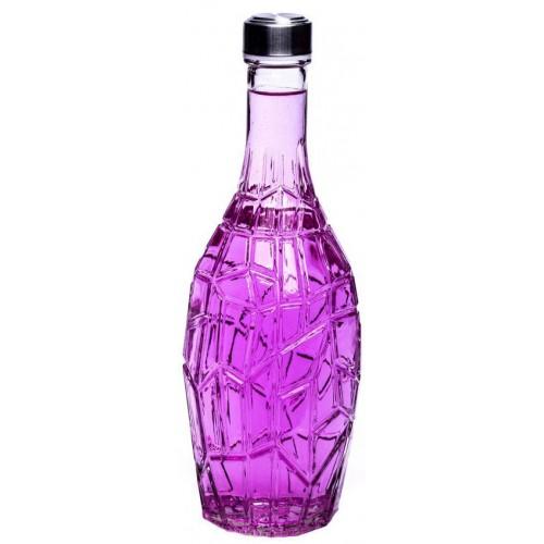بطری شیشه ای بزرگ رنگی خشتی