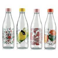بطری شیر شیشه ای طرح دار