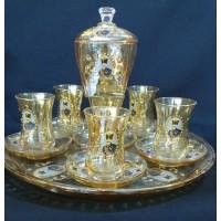 سرویس چایخوری شاه عباسی رنگ عسلی
