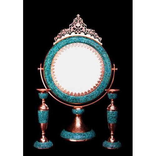 آینه و شمعدان فیروزه کوب