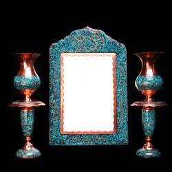 آینه شمعدان فیروزه کوب