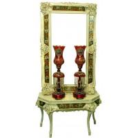 آینه و کنسول سلطنتی قرمز