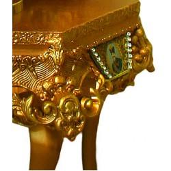 آینه و کنسول سلطنتی قهوه ای