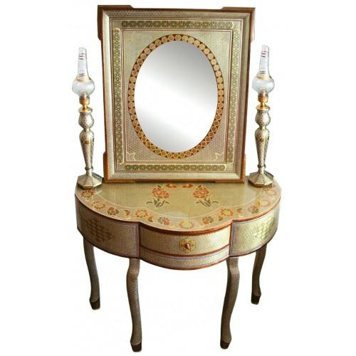 آینه و شمعدان خاتم کاری