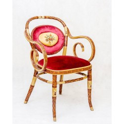 صندلی لهستانی 1 نفره چوب گردو