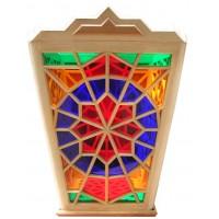 لوستر گره چینی 4 ضلعی ذوزنقه