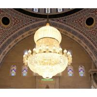 لوستر مسجدی بزرگ کریستالی
