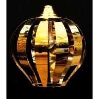 لوستر استیل مدرن نقره ای و طلایی
