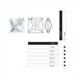 دانه آویز مربعی 2 سوراخ