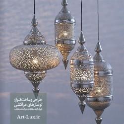 آویز مشبک مراکشی نقره ای
