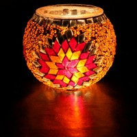 جاشمعی شیشه ای نارنجی