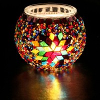 جاشمعی شیشه ای 7 رنگ